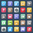 flat travel iconset colorful