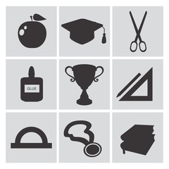Education icons,vector