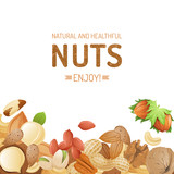 background with nuts