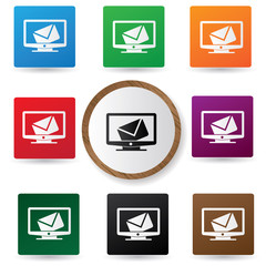 E-mail advertise buttons,vector