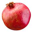 Pomegranate. Wet fruit isolated on white background