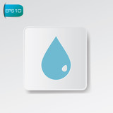 Water sign,vector