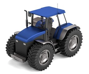 realistic 3d render of tractor
