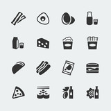 Vector food mini icons set #2