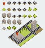 Vector isometric map kit