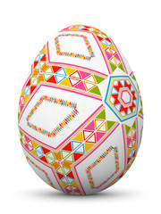 Osterei, Ei, Ostern, Muster, sorbisch, colored, Egg, Pattern, 3D
