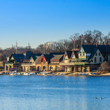 Boathouse Row by night