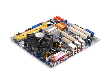 Top view of motherboard.
