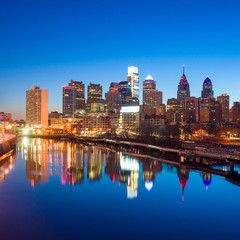 Downtown Skyline of Philadelphia, Pennsylvania.