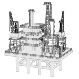 cartoon image of water rig