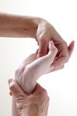 hand acupressure for alternative medicine