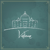 Vatican Retro Background