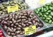 brown olives from Italy, spicy