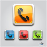 Web icons call square