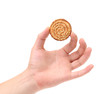 Hand holds sesame cake