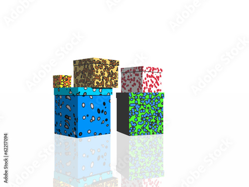 Gifts on white background