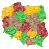 Fototapety Polen Landkarte im Detail