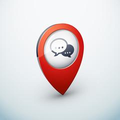 icône épingle punaise marqueur carte conversation