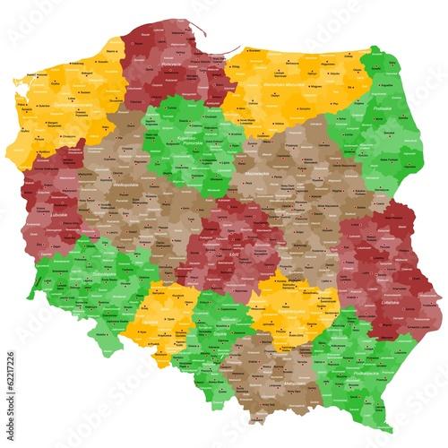 Polen Landkarte im Detail