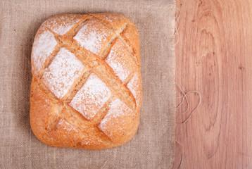 Freshly baked multi-grain bread