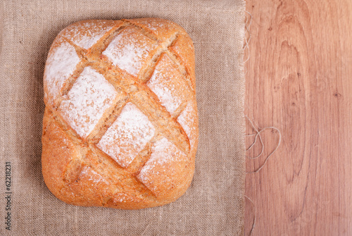Freshly baked multi-grain bread