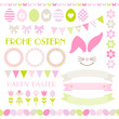 Easter Icon Set Pastel Green