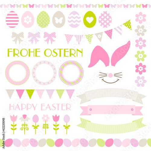 Easter Icon Set Pastel Green