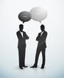 Conversation diccussion homme bulle