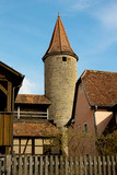 Medieval tower in Rothenburg ob der Tauber, Germany