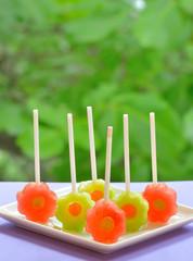 watermelon lollipop