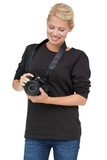 Portrait of a beautiful female photographer