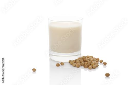 Leinwandbild Motiv Soy milk.