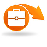 bagages sur bouton orange
