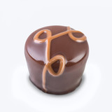 Gourmet chocolate truffle on white
