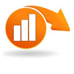 statistique sur bouton orange