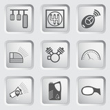 Car part and service icons set 6.