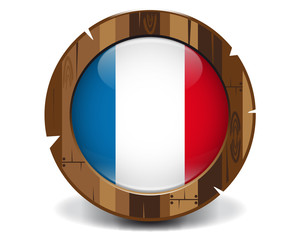 France wood button