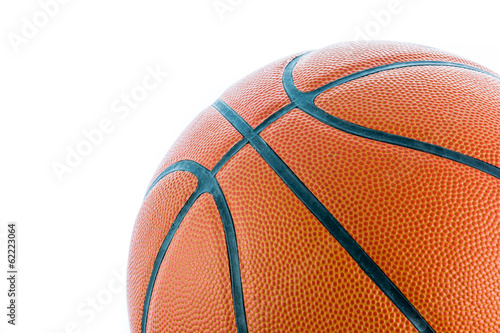 Closeup Basketball or Basket Ball isolate