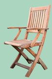 A Wooden Chair Isolated on Hemlock