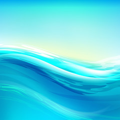 Abstract background. Water wave transparent surface.