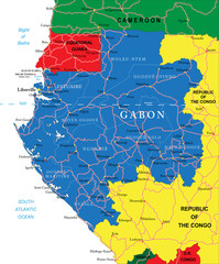 Gabon map