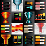 Set of Modern design template, abstract background