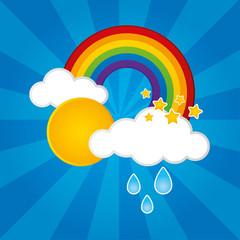 Cloud, Sun, Rain and a Rainbow