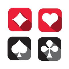 Cartes-icônes-flat design