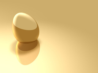 Gold Easter Egg