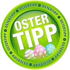 """Button """"Ostertipp"""" Ostereier grün/pastell"""