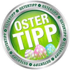 """Button """"Ostertipp"""" Ostereier grün/silber/pastell"""