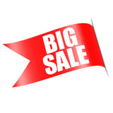 Red big sale label