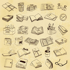 vintage stationery icons