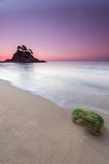 stone on sea shore